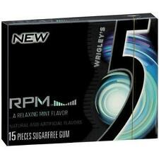 Wrigley's 5 Chewing Gum World Famous (RPM Mint / Peppermint Cobalt) 1 Per Order