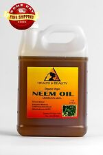 NEEM OIL UNREFINED ORGANIC CARRIER COLD PRESSED VIRGIN RAW PURE 7 LB