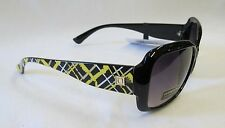 Liz Claiborne Womens Sunglasses, Black/Yellow/White, 100% UV Protection