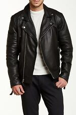Members Only - Genuine Leather/Lamb Milano Modern Moto Jacket Size XL Free Ship