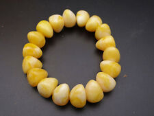 Artificial old Amber beeswax beaded Bracelet Bangle Bracelet / 14mm Beads   @3