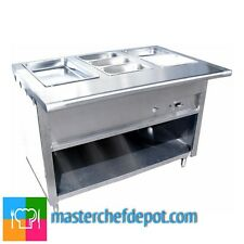 "NEW L&J 60"" Gas Steam Table 4 Pans 1 Burner 20,000 BTU Stainless Model CWS-60"