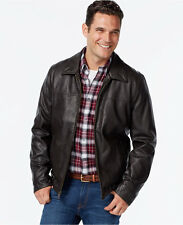 New $195 Mens Size M TOMMY HILFIGER All-Weather Jacket Waterproof Faux Leather