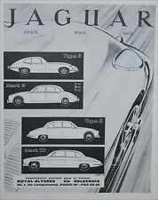 PUBLICITÉ advertising  CAR JAGUAR TYPE E TYPE S MARK  AUTO PRINT AD 1966 PA 880