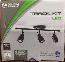Lithonia Lighting 2 ft. 3-Light Oil-Rubbed Bronze LED Track Lighting Fixed Kit