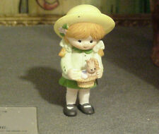 Enesco Country Cousins Katie in Sunday Clothes with Easter Basket with Bunny