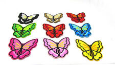 New 9pcs Butterfly Embroidered Cloth Iron On Patch Sew Motif Applique Clothes
