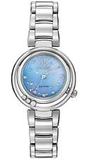 BRAND NEW CITIZEN ECO-DRIVE SUNRISE BLUE MOP FLOATING DIAMONDS SS EM0320-59D NIB