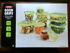 OXO Good Grips 20 Piece LockTop Container Set Green Lids