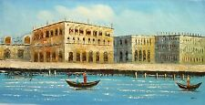 """Seascape Replica Oil Painting  - View of  Venice -  size 30""""x24"""""""