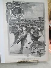 Vintage Print,INDIAN CAMP,Ballout Island,Harpers,1892,Indians
