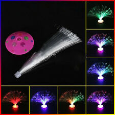 LED Multi Colour Changing Fibre Optic Fountain Night Lamp Home Decoration TQQ