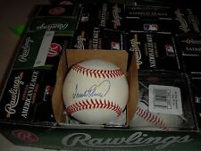 Authentic Autographed Baseball Great Frank Robinson Cincinnati Reds Baltimore O'