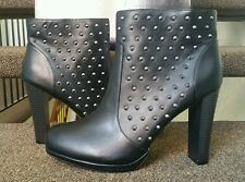 Black High Heel Platform Ankle Boots Size 13W