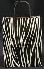 250 Zebra Twist Handle Print Skin Cub Kraft Paper Retail Shopping Bags