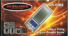 US FIRE 100g x0.01g DIGITAL JEWELRY SCALE FROM US BALANCE