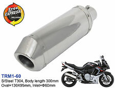 Motorcycle exhaust performance muffler universal for Suzuki GSX 650F ATV 2.3""