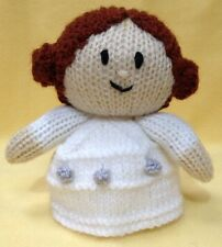 KNITTING PATTERN - Star Wars inspired Princess Leia orange cover or 13 cms toy