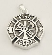 Cremation Fire Fighter Medilion urn jewelry chain Memorial  fill kit 563CSFMSS