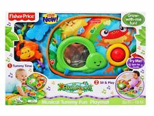 Fisher-Price Rainforest Tummy Time Portable Playmat Activity Wedge Baby Toy