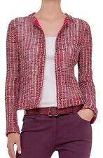 NWT Akris Switzerland Red Open front Loose weave Jacket $2490