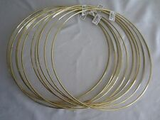 "Lot of 10 Gold Metal Brass Macrame Craft Dreamcatcher Rings 14"" Inch Diameter"
