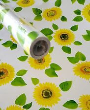 9ft Yellow Sunflower contact wall paper Shelf liner peel & stick 9ft x 18""