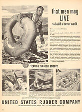 1944 US Rubber Co. Rubber Life Rafts One Man Parachute Inflatable Raft 030317