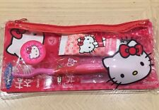 NEW HELLO KITTY CUTE GIRLS MINI DENTAL TRAVEL KIT SET IN GIFT POUCH