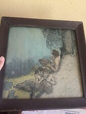 Watercolor Painting Drawing Of Satry's In Woods Goth Medieval