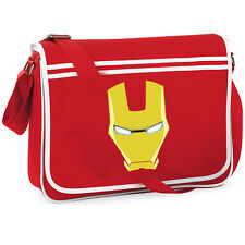 The Avengers Iron Man College Borsa A Tracolla Messenger Nerd Fumetto Retrò