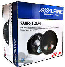 "Alpine SWR-12D4 12"" 3000 Watt Dual 4-Ohm Subwoofer With Staggering Power Handing"