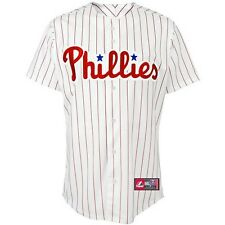PHILADELPHIA PHILLIES ADULT HOME REPLICA JERSEY NEW & OFFICIALLY LICENSED MEDIUM