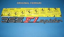FERRARI F355 F1 SPIDER REAR SCRIPT BADGE / EMBLEM  ORIGINAL