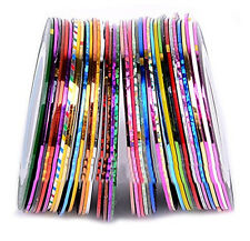 30Pcs Mixed Colors Rolls Striping Tape Line Nail Art Tips Decoration Sticker IL