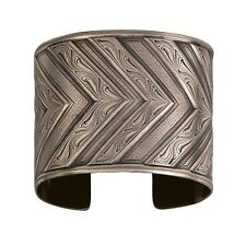 Montana Silversmiths Western Silver Classic Engraved CHEVRON Wide Cuff Bracelet