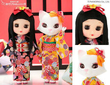 Petworks Odeco Chan & Nikki Cat doll in Kimono TenTen Temari (2dolls girl & cat)