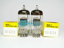2 x  NOS 6201-ECC801S-E81CC-12AT7WA-PHILIPS ECG-GOLD BRAND-OWN BOXES
