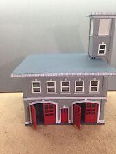 """HO 1/87 Boley # 2602 Grey Brick Two Story Fire House - 7"""" x 6"""" x 7-1/4"""""""