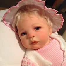"Alvie (Ylvie) Cutest Reborn Baby Girl, Sculpt : Sabine Altenkirch 20"" Glass Eyes"