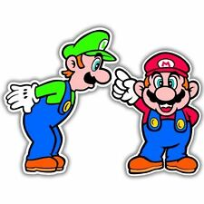 "Super Mario Luigi Video Game Arcade Vinyl car sticker  6"" X 5"""