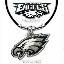 """PHILADELPHIA EAGLES NECKLACE for MALE or FEMALE - 24"""" LEATHER NFL FREE SHIP #BL*"""