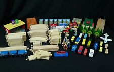 Thomas/Geoffery/Ikea 136PC Wood/Plastic Toy Train Track/Car/Buildings Lot/Set