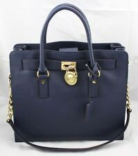 NEW AUTHENTIC MICHAEL KORS HAMILTON NAVY SAFFIANO HANDBAG LG NS TOTE WOMEN'S