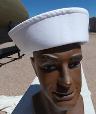 Cold War US Navy White Sailors Hat , Size 7 3/4, NICE!
