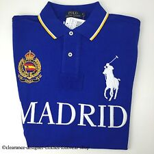 Ralph Lauren Polo Big Pony Madrid ciudades Azul Top T-shirt Tamaño Grande Rrp £ 115