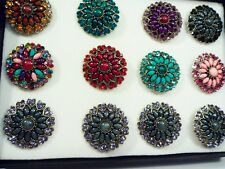 12 Box Set ring wholesale jewelry lot vintage style fashion Crystal Rhinestone f