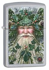 Zippo Lighter: Anne Stokes Christmas Spirit - Satin Chrome