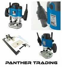 "Silverline Powerful 1500W 1/2"" Plunge Router With Soft Start Technology - 264895"