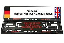 SEAT CUPRA SPORT NUMBER PLATE SURROUNDS